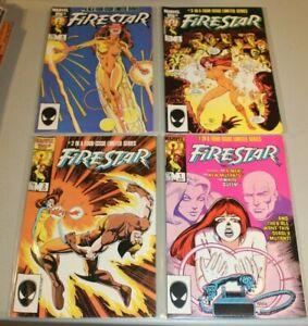 Complete-Set-Firestar-1-2-3-4-NM-1986-Uncanny-X-men-Spider-man-Movie-Netflix