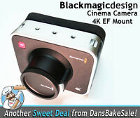 Blackmagic Design 4K Digital Production Camera 4K - EF Mount - New in Open Box