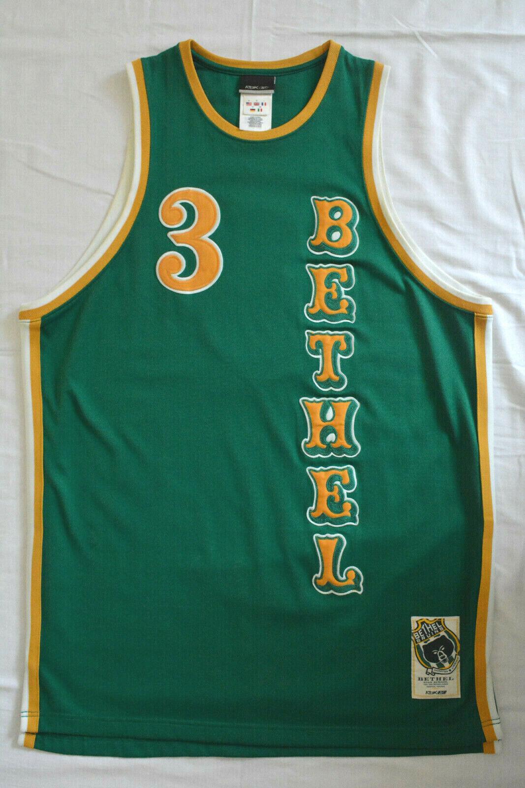 ALLEN IVERSON Bethel Bruins High School AUTHENTIC PRO CUT MEDIUM M NBA Jersey