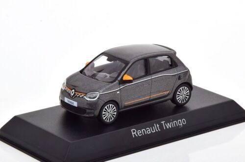 Renault Twingo 2019 graumetallic orange 1:43 Norev 517418 diecast