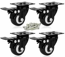 New Listingenjucom 2 Inch Swivel Caster With Safety Dual Locking Heavy Duty 600lbs Set Of 4