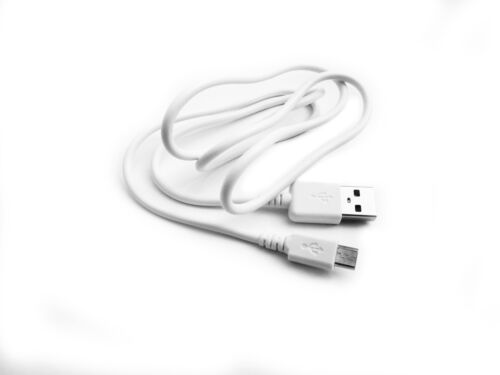 90cm USB White Charger Cable for Sony MDR-AS600BT MDRAS600BT Wireless Headphones