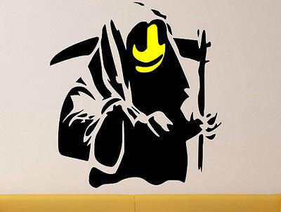 Moderno Pared Decoración Banksy Pulp Fiction Plantilla Pegatinas de Pared Calcomanía 60cm X 90cm Reino Unido
