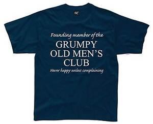GRUMPY-OLD-MENS-CLUB-Mens-T-Shirt-S-3XL-Funny-Printed-Joke-Git-Dad-Fathers-Day
