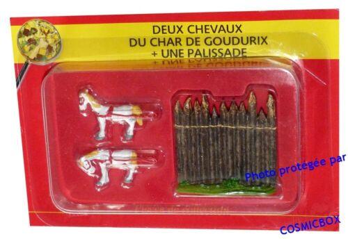 Le VILLAGE d/'ASTERIX n° 39 figurine CHEVAUX de Goudurix plomb PLASTOY figure bd