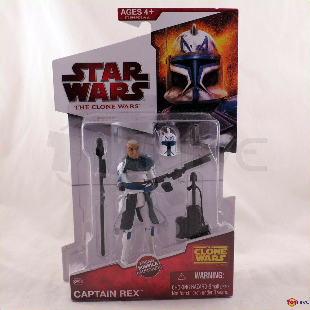 Star Wars - The Clone Wars Wars Wars Clone Captain Rex CW24 2009 Animated figure - worn cd81b5