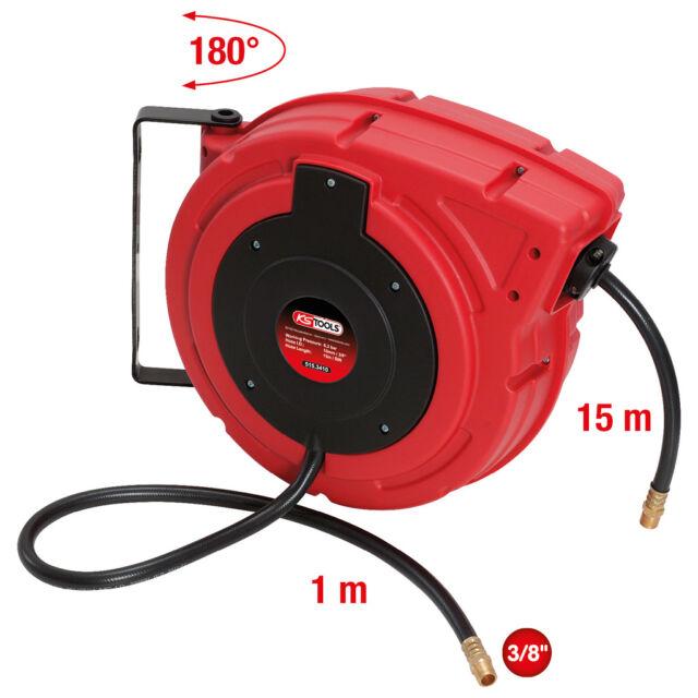 """Ks Tools Druckluft-Schlauchaufroller Ø10mm , Connection 3/8 """" Drum 515.3410"""