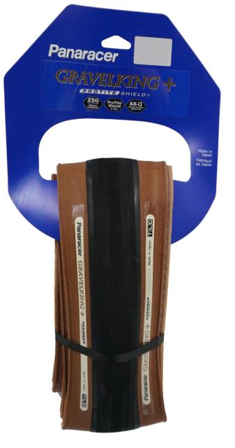 Folding Tire ZSG Natural PT w// Brown TLC 700c x 35 mm PANARACER GravelKing SK