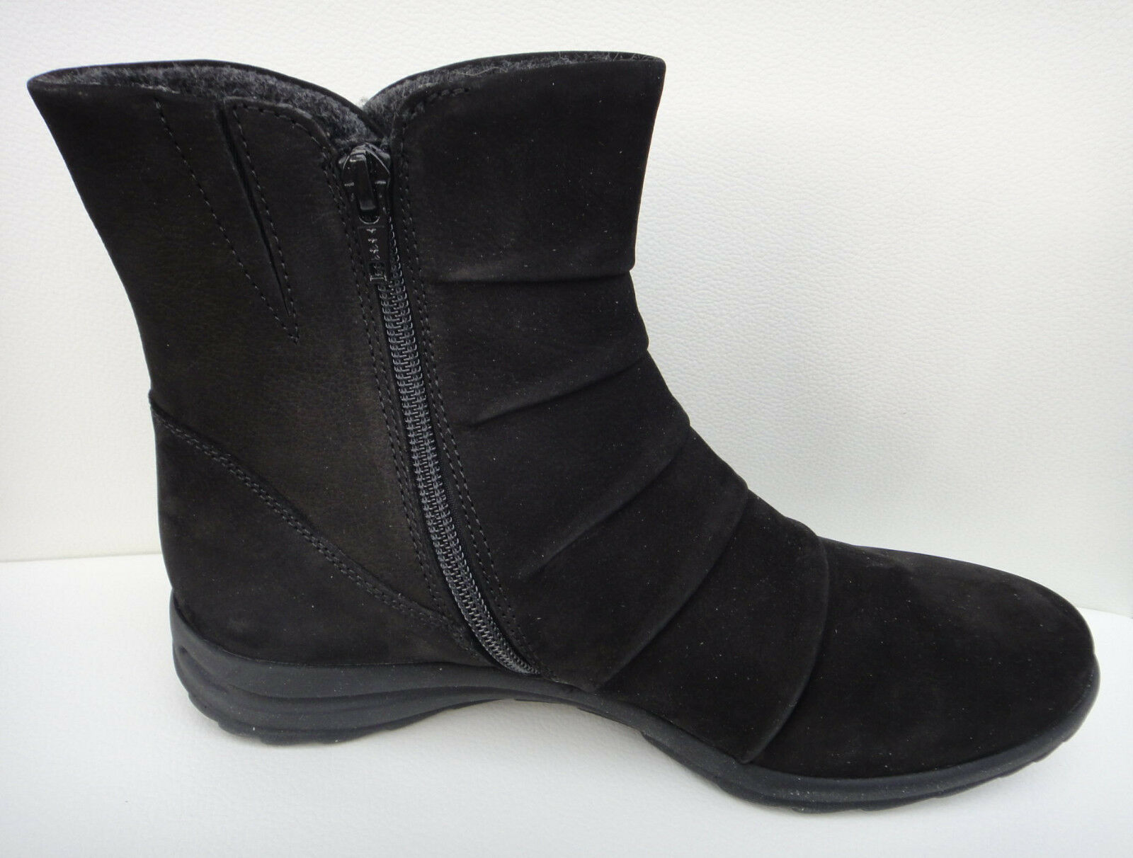 Gabor Boots Neu Stiefelette Nubuk Leder schwarz Neu Boots 4 4,5 37 37,5 89791c