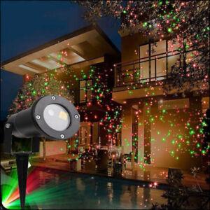 Proiettore Luci Bianche Natalizie.Dettagli Su Proiettore Faro Faretto Laser Luci Di Natale Natalizie Esterno Con Telecomando