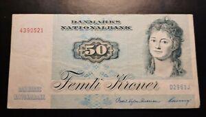 1972 - Danmarks Nationalbank, Denmark - 50 Kroner Banknote, Serial No. D2961J