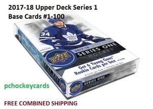 2017-18-17-18-Upper-Deck-UD-Series-1-Base-Cards-1-100-Stars-Goalies-U-Pick
