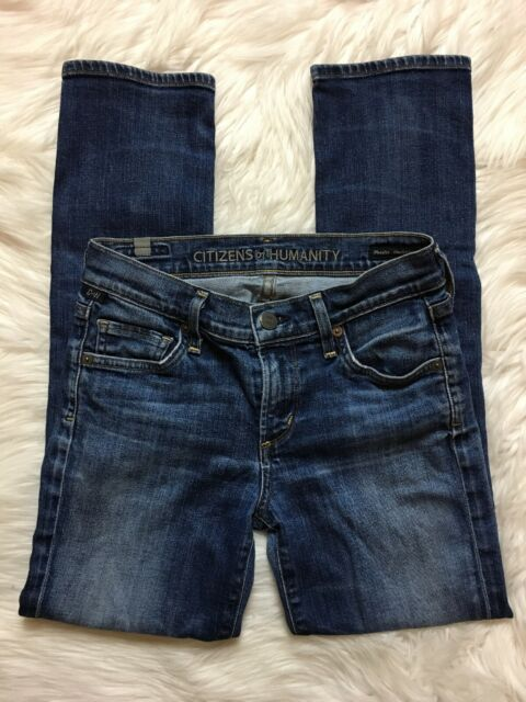 Citizens Of Humanity Phoebe Slim Straight Crop Jeans Sz 24 Cropped