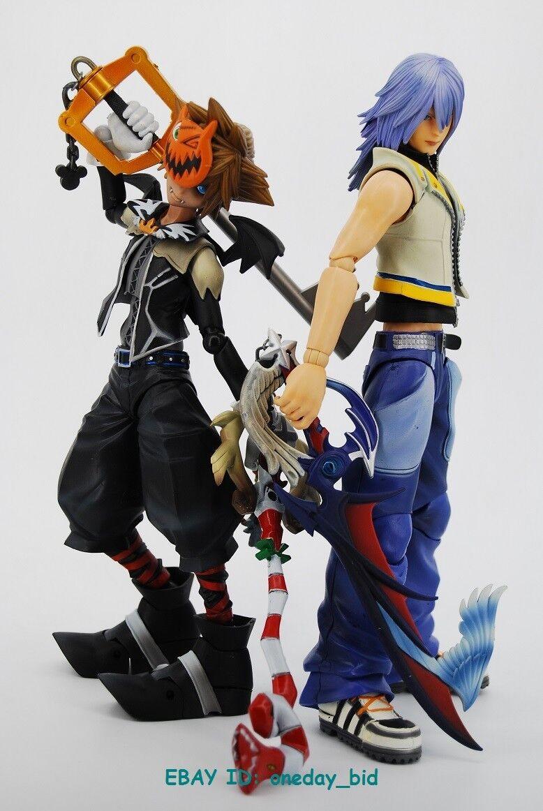 Set original Square Enix Play Arts Kingdom Hearts 2 Riku & Sora figures sans boîte