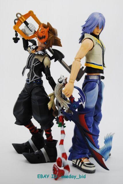 set Original Square Enix Play Arts Kingdom Hearts 2 Riku & SORA figures NO BOX