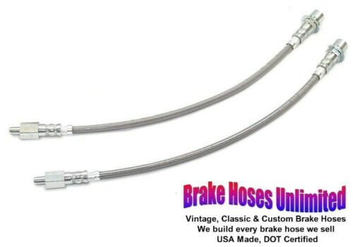 Front Drum FRONT STAINLESS BRAKE HOSES Ford Mustang 1967 1968 1969 1970