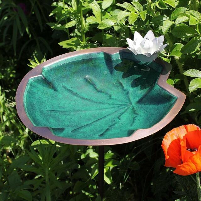 Lily Pad /& Dragon Fly Springtime BirdBath Cast Aluminum