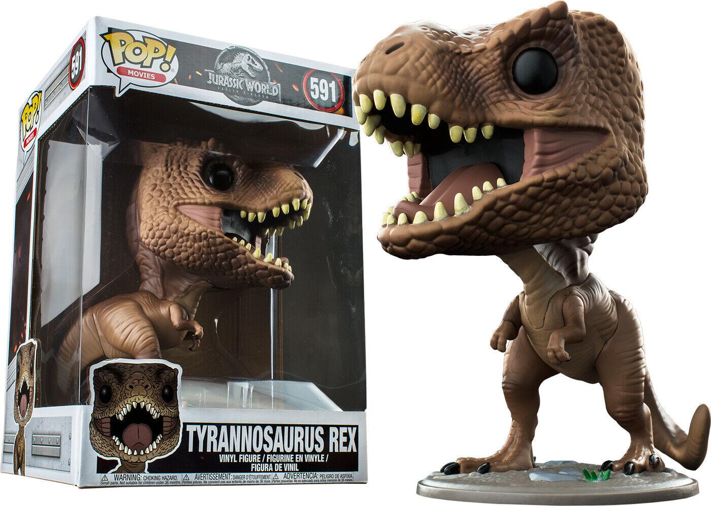 "Jurassic World  Fallen Kingdom - Tyrannosaurus Rex 10"" Pop  Vinyl Figure"