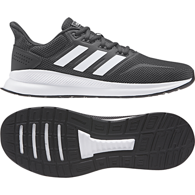 New ADIDAS MENS 12 Runfalcon Dark Grey F36200 Workout Running SNEAKERS Trainers