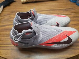 Nike Phantom Vision VSN 2 Elite DF FG ACC Size 12 Grey Soccer Cleats CD4161-906