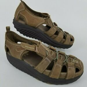 Details about Skechers Shape Ups Women's Size 8 11805 Fitness Toning Fisherman Brown Sandals