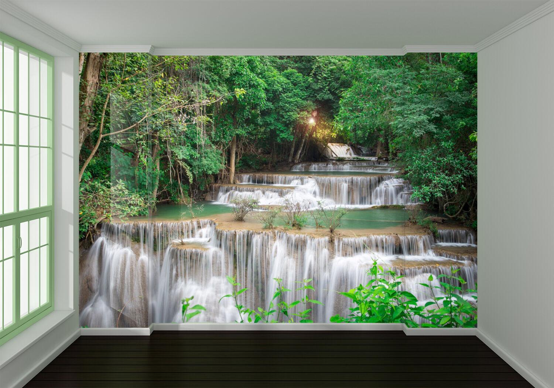 3D Beautiful Waterfall River 63 Wall Paper Wall Print Decal Wall AJ WALLPAPER CA