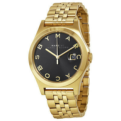 Marc by Marc Jacobs The Slim Black Dial Gold-tone Womens Watch MBM3315
