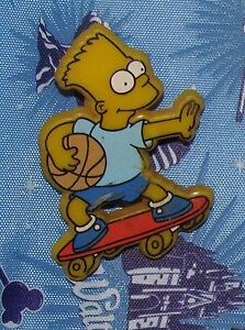 A7 9 Vintage Pin Bart Simpson The Simpsons Skateboard Basketball Ebay