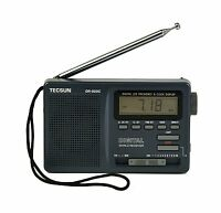 Tecsun Dr-920c Digital Fm/mw/sw World Band Radio ( Black Color) Free Shipping