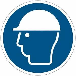 """Cartelli di obbligo ISO 7010 """"Casco di protezione obbligatorio"""" M014"""