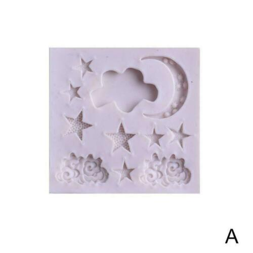 Details about  /Silicone Moon Star Cloud Mold Fondant Cake Chocolate Candy Craft Decor O8L8