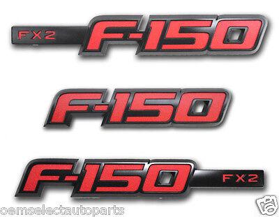 NEW OEM 2013-2014 Ford F-150 FX2 Sport Appearance Package Emblem Set - Black/Red