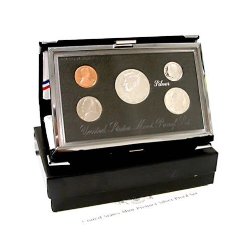 1998 Silver Premier Proof Coin Set US Mint