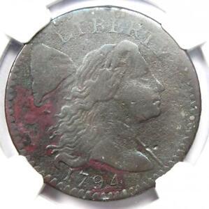 1794 Liberty Cap Large Cent 1C Coin S-58 - NGC VF Details- Rare Coin!