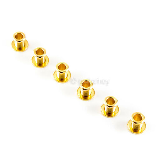 GOLD NEW Gotoh SG381-07 R6 Set 6 in line Mini Tuners w// screws LEFT HANDED