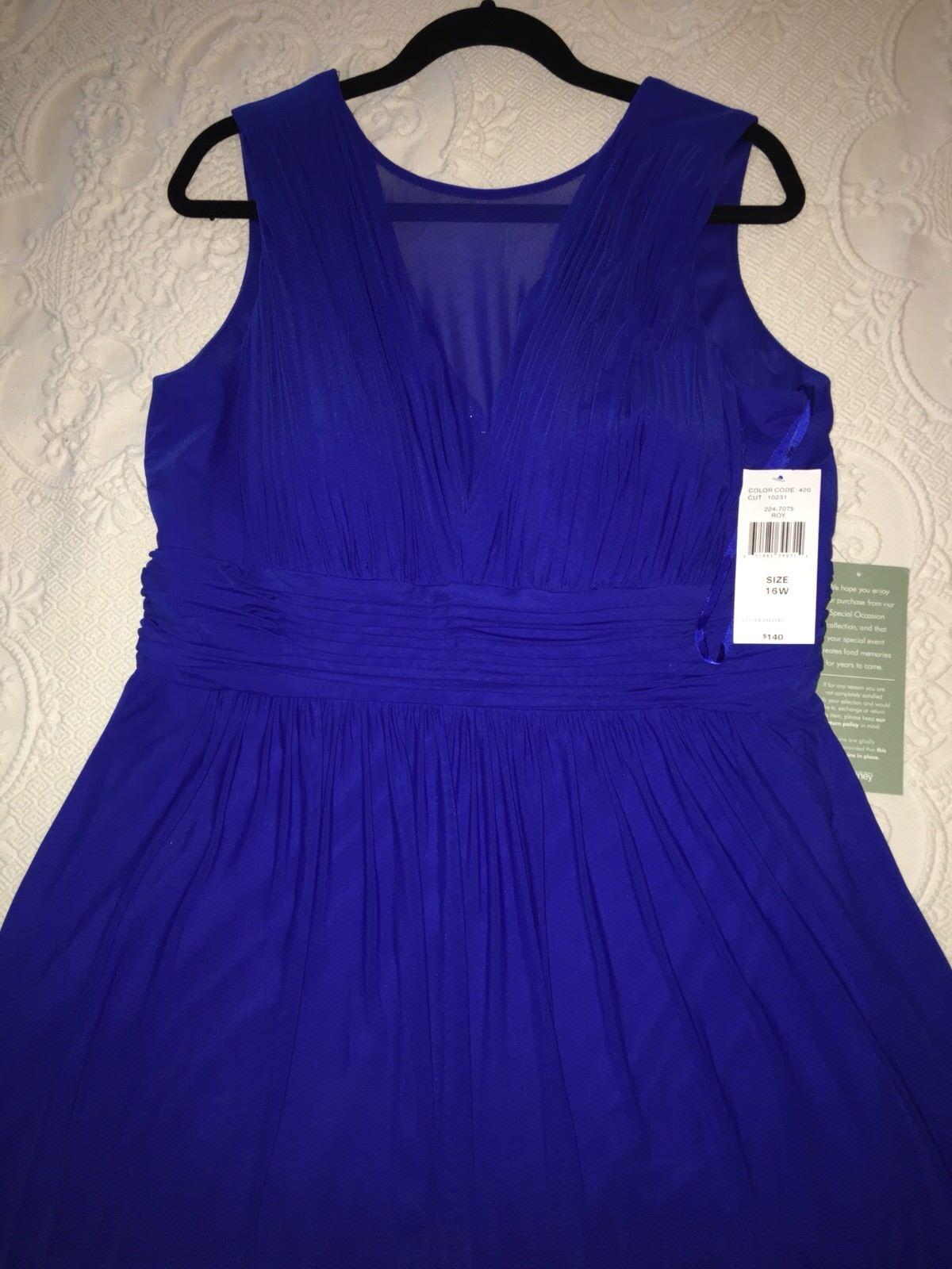 NWT Blau Sage Plus Größe Stretch Mesh Illusion  Draped V-neck Maxi Dress 16W