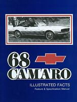 1968 Camaro/ss/z28/rs Illustrated Facts
