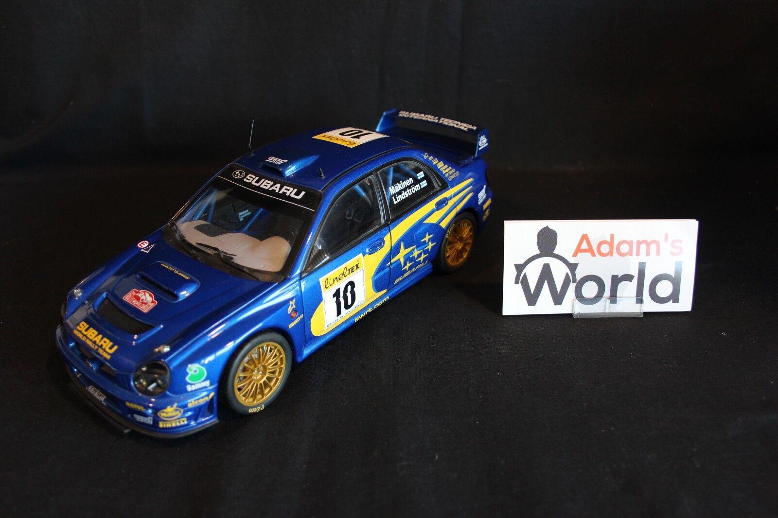 AutoArt Subaru Impreza S7 WRC '01 1 18  10 Mäkinen   Lindström winners MC (JvdM)