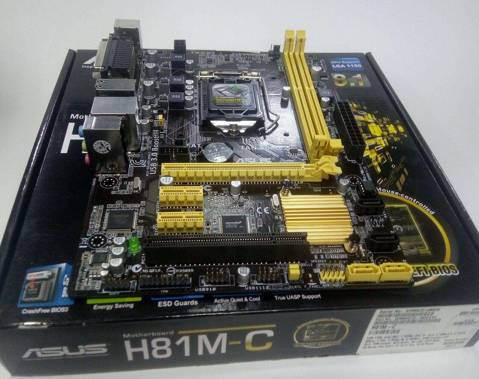 ASRock H81M-VG4 R2.1 LGA 1150 DDR3 Backplate Motherboards