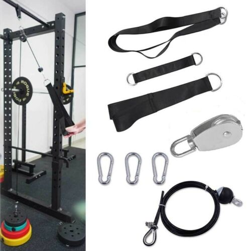 Fitness Pulley Cable Machine System Biceps Triceps Arm Blaster Hand Strength DIY