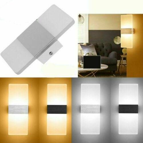 Modern LED Wall Light Up Down Lamp Sconce Spot Lighting Home Bedroom Fixture