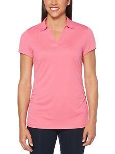 PGA-Tour-Women-039-s-Air-Flux-Golf-Polo-Carmine-Rose-Pink