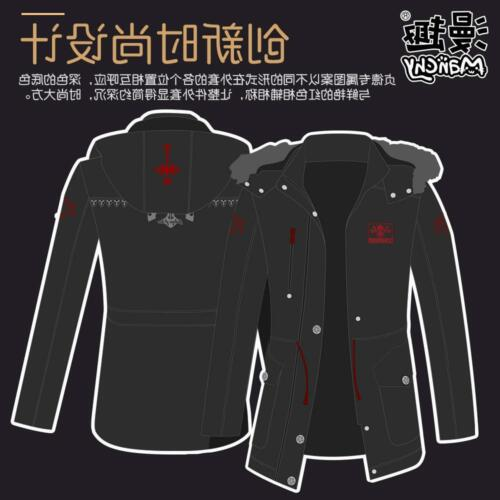 Fate Grand Order FGO Jeanne d/'Arc Alter Winter Warm Overcoat Jacket Black Sweats