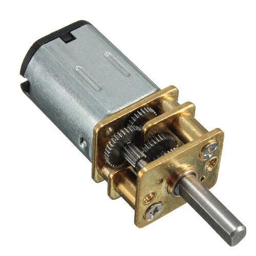 Micro Speed Reduction Gear Motor Gearbox Wheel DC 6V 30RPM N20 Getriebemotor #D