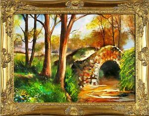 Gemaelde-Natur-Handarbeit-Olbild-Bild-Olbilder-Rahmen-Bilder-G15563
