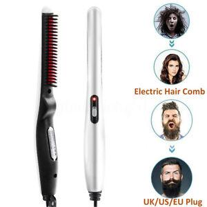 Electrique-Peigne-a-Lisser-Redresseur-Barbe-Brosses-Lisseur-Lissant-Homme