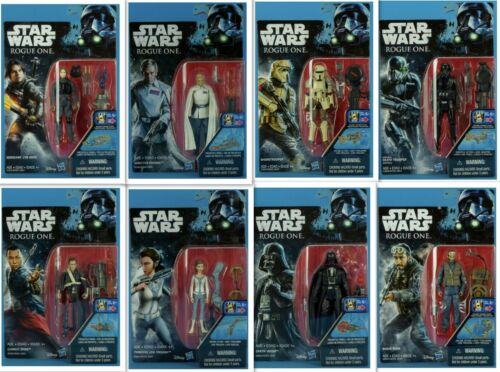 Star Wars Rogue One 3.75 Lot Of 8-Vader, Jyn, Krennic, Shoretrooper, Bodhi+ NIB