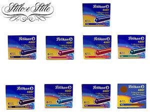 Cartucce-Pelikan-4001-TP-6-Cartucce-Penne-Stilografiche-Cartdriges-Pelikan