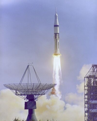 Launch of Apollo 7 Saturn IB from Launch Complex 34 Photo Print