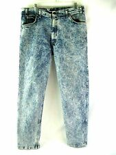 Vintage 80s LEVIS Mens ACID WASH JEANS ORANGE TAB 38x32 Actual 36x30 MADE IN USA